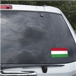 Hungary Flag Graphic Window Cling