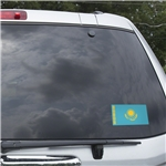 Kazakhstan Flag Graphic Window Cling