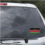 Kenya Flag Graphic Window Cling