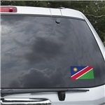 Namibia Flag Graphic Window Cling