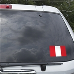 Peru Flag Graphic Window Cling