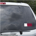 Qatar Flag Graphic Window Cling