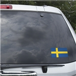 Sweden Flag Graphic Window Cling