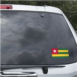 Togo Flag Graphic Window Cling