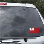 Tonga Flag Graphic Window Cling