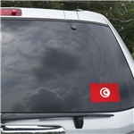 Tunisia Flag Graphic Window Cling