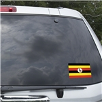 Uganda Flag Graphic Window Cling