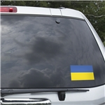 Ukraine Flag Graphic Window Cling