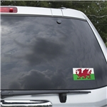 Wales Flag Graphic Window Cling