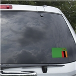 Zambia Flag Graphic Window Cling