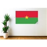 Burkina Faso Flag Wall Decal