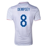 USA 14/15 DEMPSEY Authentic Home Soccer Jersey