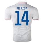 USA 14/15 MIAZGA Authentic Home Soccer Jersey