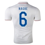 USA 14/15 NAGBE Authentic Home Soccer Jersey