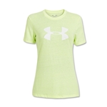Under Armour Charged Cotton Women's Big Logo T-Shirt (Neon Yellow)