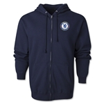 Chelsea Emblem Full Zip Hooded Fleece (Navy)