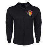 Belgium Euro 2016 Fashion Hoody Jacket (Black)