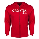 Croatia Euro 2016 Core Hoody Jacket (Red)