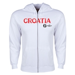 Croatia Euro 2016 Core Hoody Jacket (White)