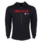 Croatia Euro 2016 Core Hoody Jacket (Black)