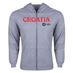 Croatia Euro 2016 Core Hoody Jacket (Grey)