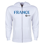France Euro 2016 Core Hoody Jacket (White)
