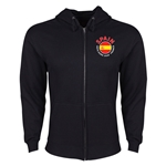Spain Euro 2016 Fashion Hoody Jacket (Black)