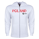 Poland Euro 2016 Core Hoody Jacket (White)