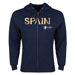 Spain Euro 2016 Core Hoody Jacket (Navy)