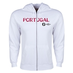 Portugal Euro 2016 Core Hoody Jacket (White)