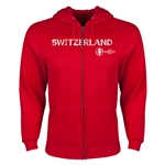 Switzerland Euro 2016 Core Hoody Jacket (Red)
