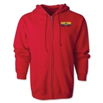 Ecuador Flag Full Zip Hooded Fleece (Red)