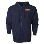 Ecuador Flag Full Zip Hooded Fleece (Navy)