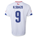 Chile 14/15 H. SUAZO Away Soccer Jersey