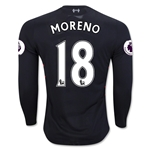 Liverpool 16/17 MORENO LS Away Soccer Jersey