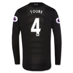 Liverpool 16/17 TOURE LS Away Soccer Jersey
