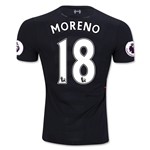 Liverpool 16/17 MORENO Authentic Away Soccer Jersey