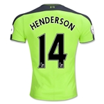 Liverpool 16/17 HENDERSON Authentic Third Soccer Jersey