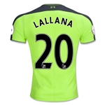 Liverpool 16/17 LALLANA Authentic Third Soccer Jersey