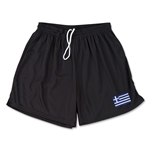Greece Team Soccer Shorts (Black)
