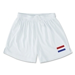 Netherlands Team Soccer Shorts (White)