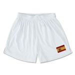 Spain Team Soccer Shorts (White)