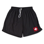 Switzerland Team Soccer Shorts (Black)
