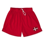 Denmark Team Soccer Shorts (Red)