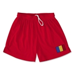 Romania Team Soccer Shorts (Red)