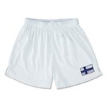 Finland Team Soccer Shorts (White)
