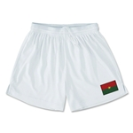 Burkina Faso Team Soccer Shorts (White)
