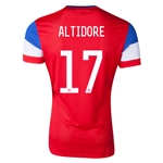USA 14/15 ALTIDORE Authentic Away Soccer Jersey