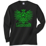Lacrosse Play Hard Eagle Long Sleeve T-Shirt (Black)