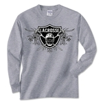 Lacrosse Shield Long Sleeve T-Shirt (Gray)